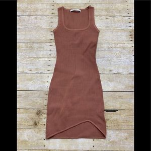 NWOT By Johnny ribbed mini dress